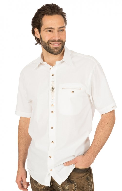 German traditional shirt arms short GARRET white