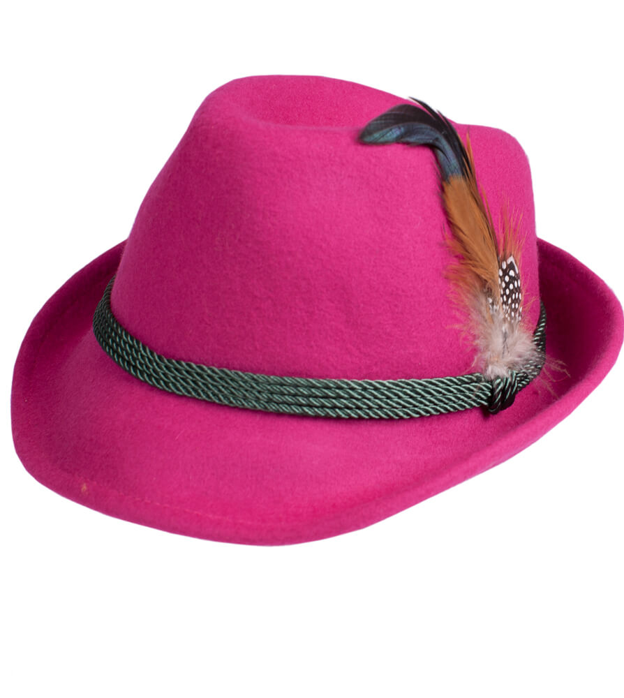 Costume hat HT750 with feather pink von Schuhmacher