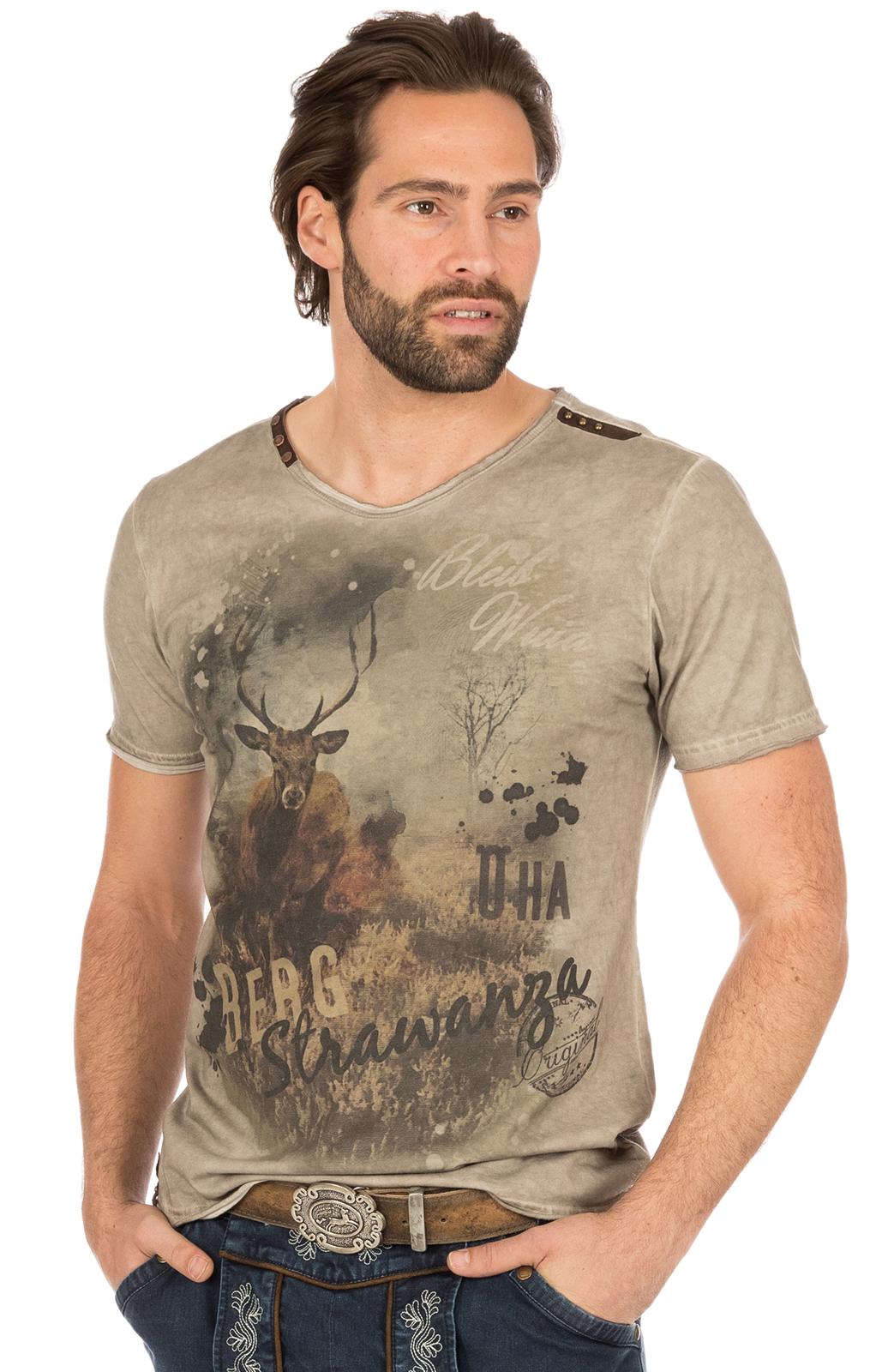 Trachten T-Shirt BERGSTRAWANZA braun von Marjo