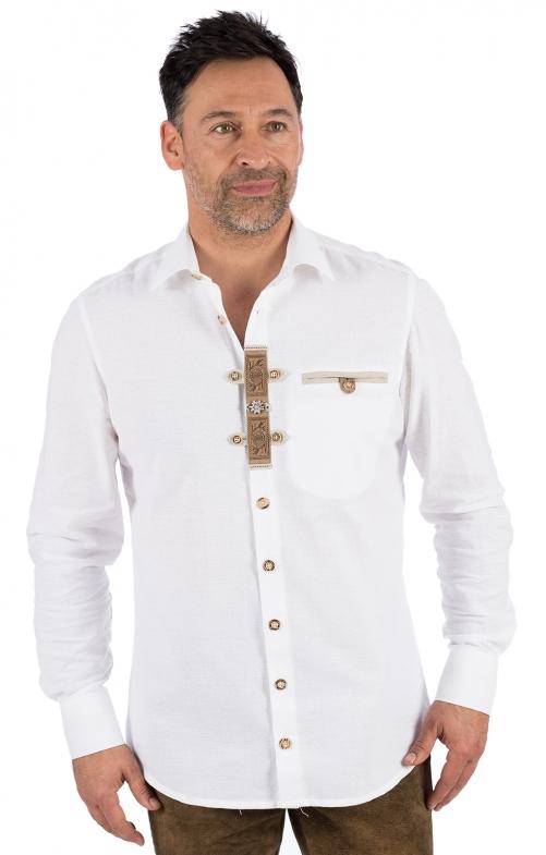 Trachtenhemd LUKAS weiss