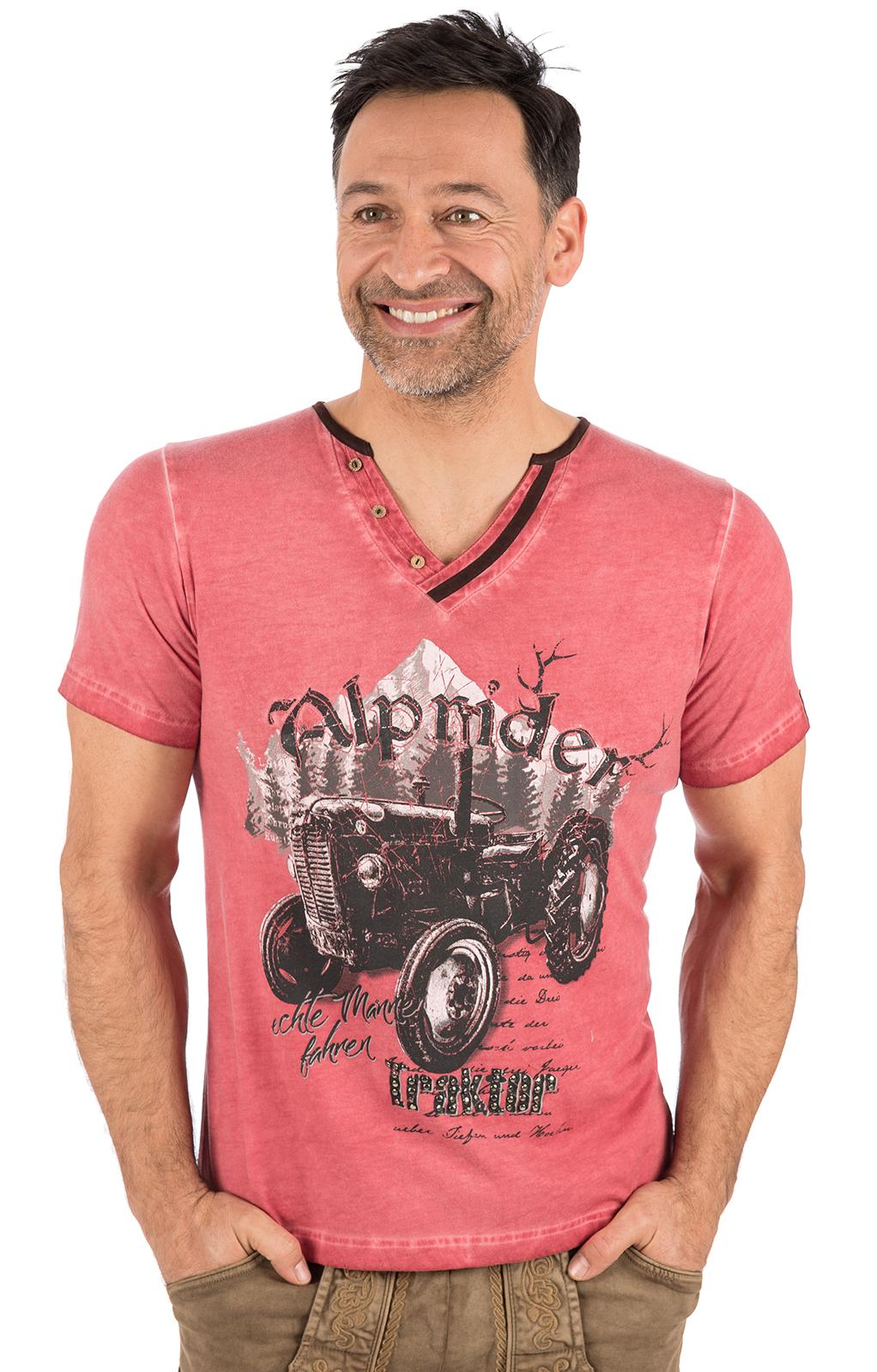 Trachten T-Shirt E15 - ALPRIDER ziegel von Marjo