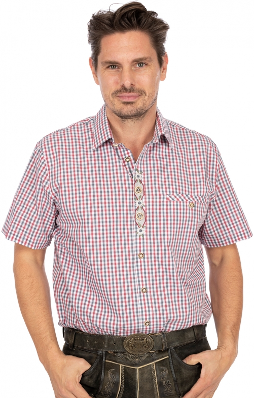 German traditional shirt BURGSTEIN red