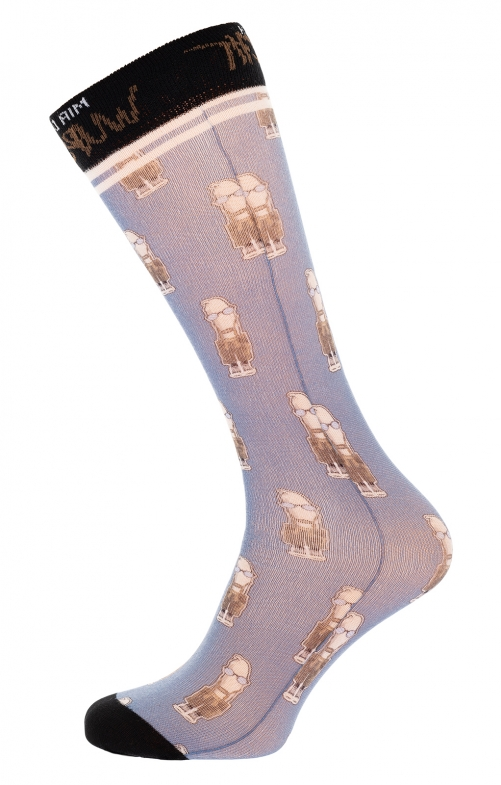 Oktoberfest traditional socks HOMER blue