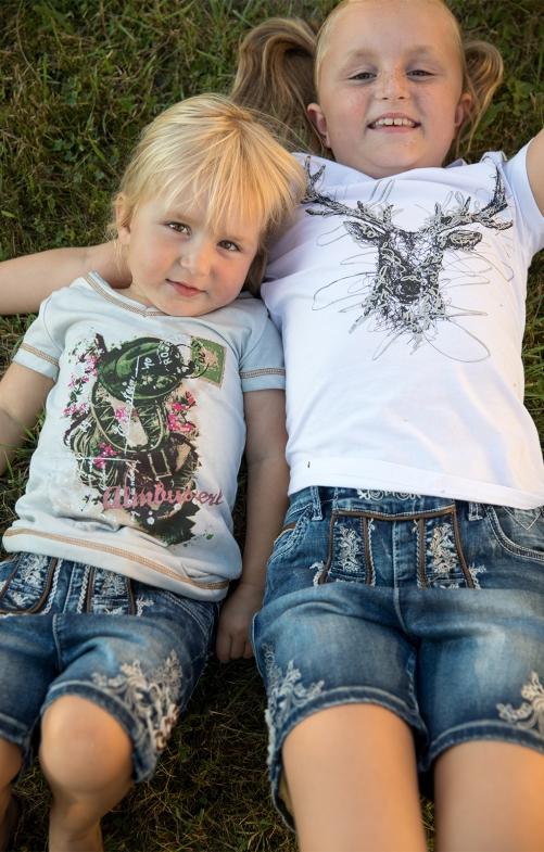 Children traditional denim short K69 - KIDS blue