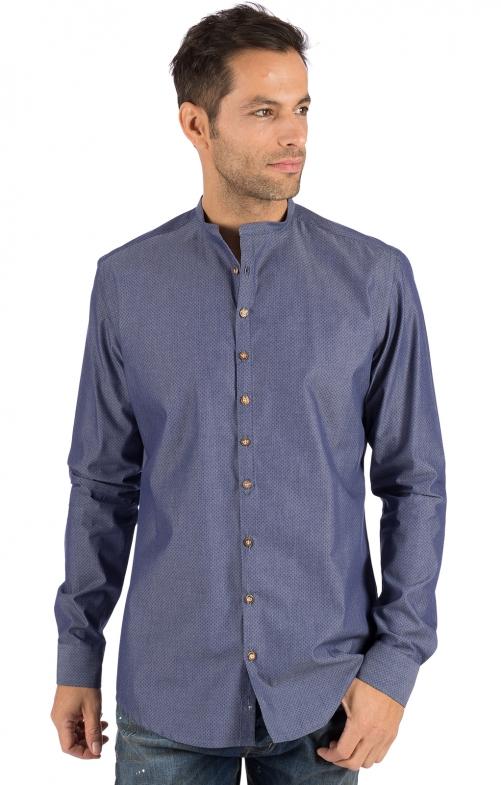 German traditional shirt HOLGER blue
