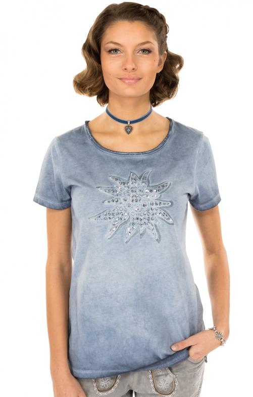 Trachten T-Shirt K04 EDELWEISS countryblue