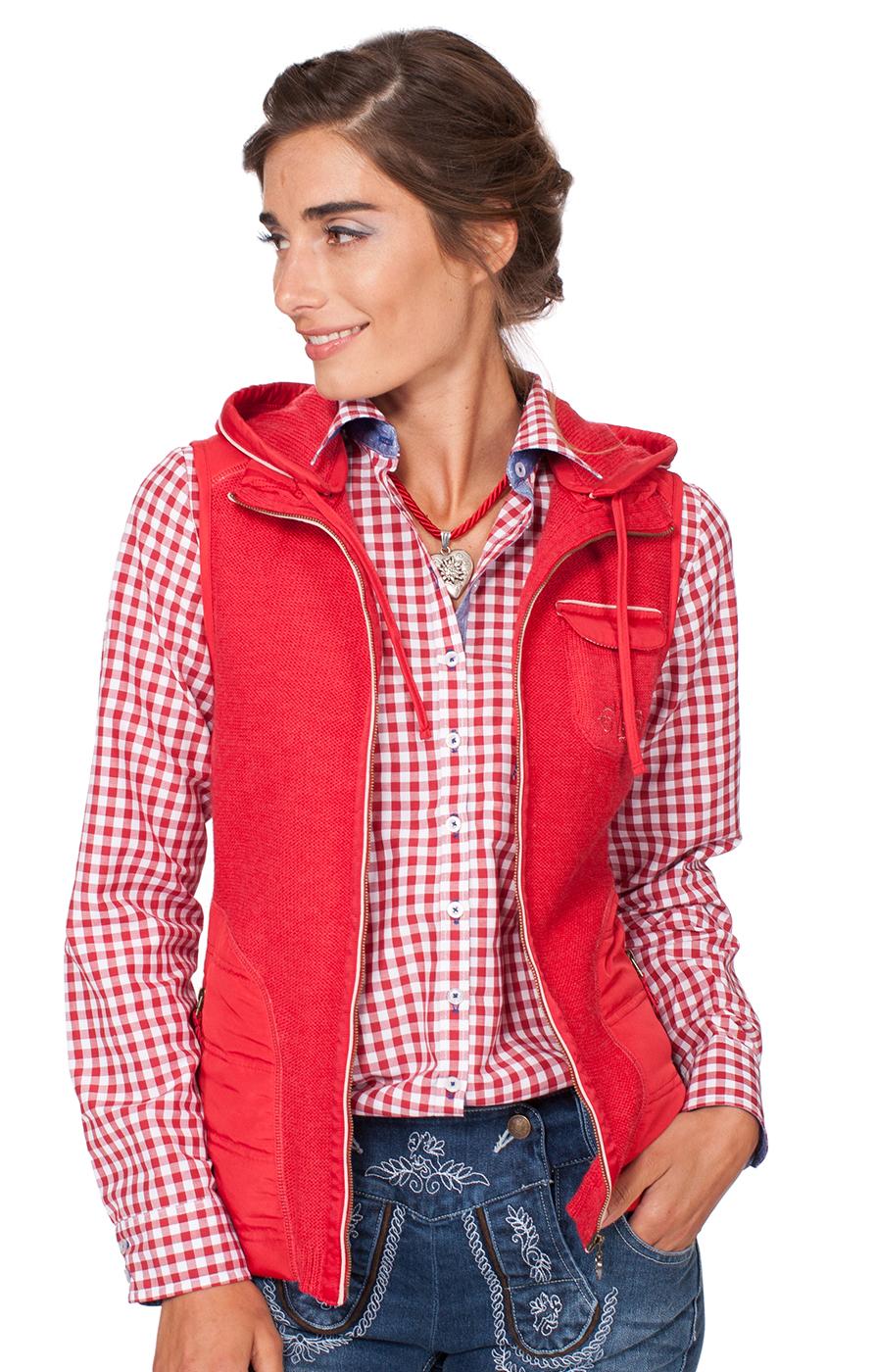 Traditional waistcoat Flintbeck red pink von Spieth & Wensky