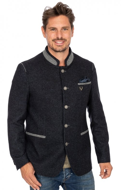 German traditional jacket MARLON dark blue gray