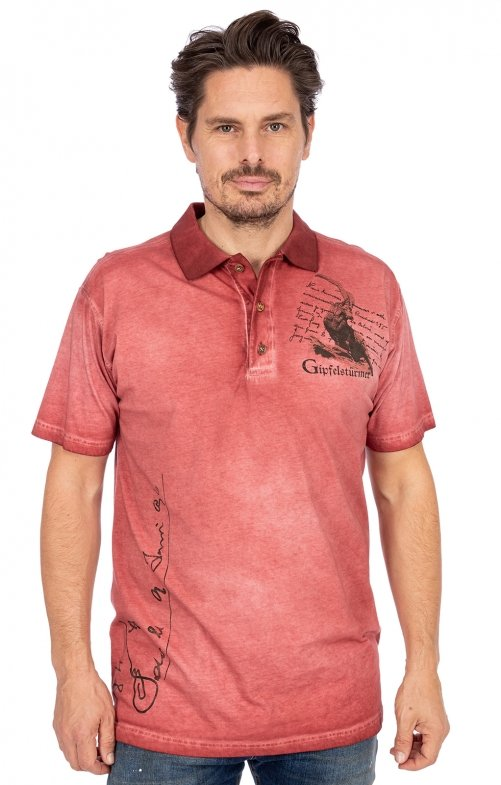 Poloshirt 428008-3737-35 weinrot