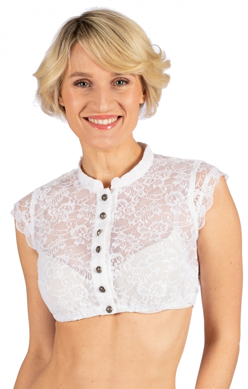 Traditional dirndl blouse DELROSE-EVA white