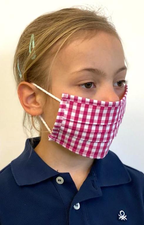 Bambini Maschera di tessuto 489000-2652-36 rosso