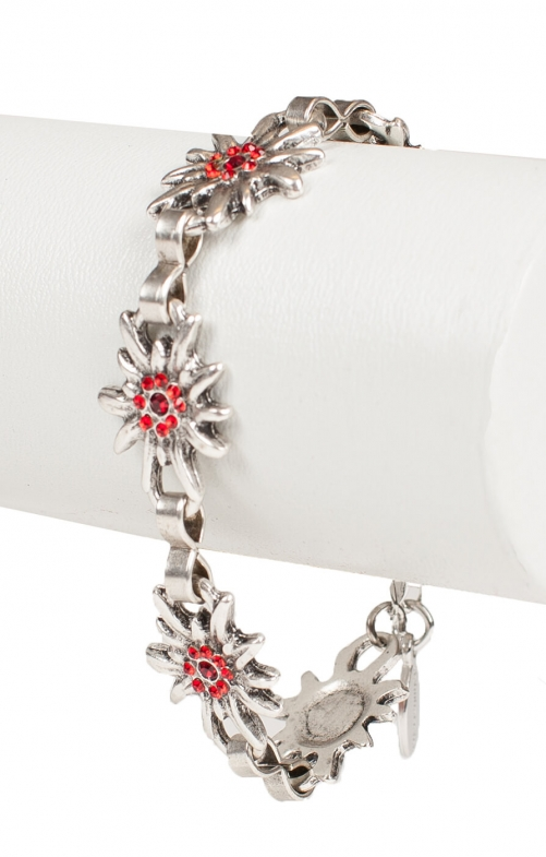 Bracelet AB9197-5 with edelweiss red