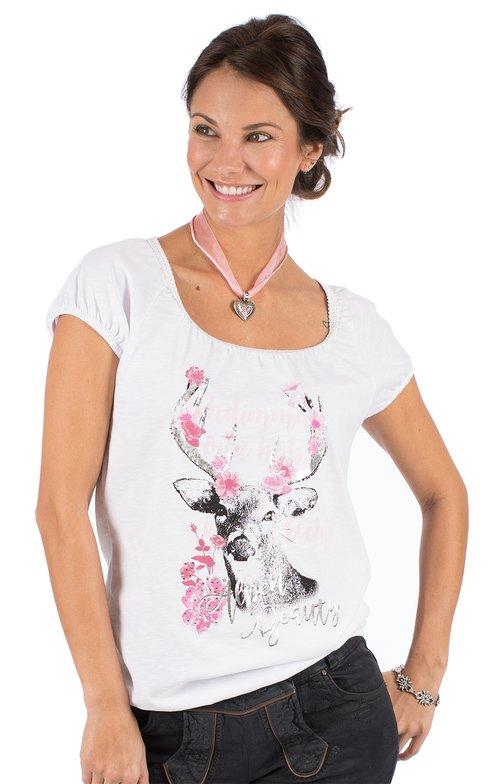 Trachten Shirt D43 - JULIA vintage white
