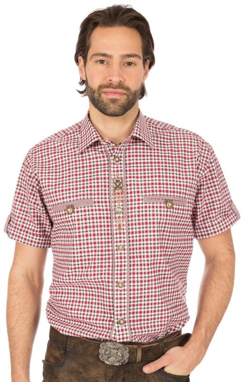 Trachtenhemd DACHSTEIN Halbarm rot