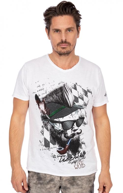T-Shirt FRANZL weiß