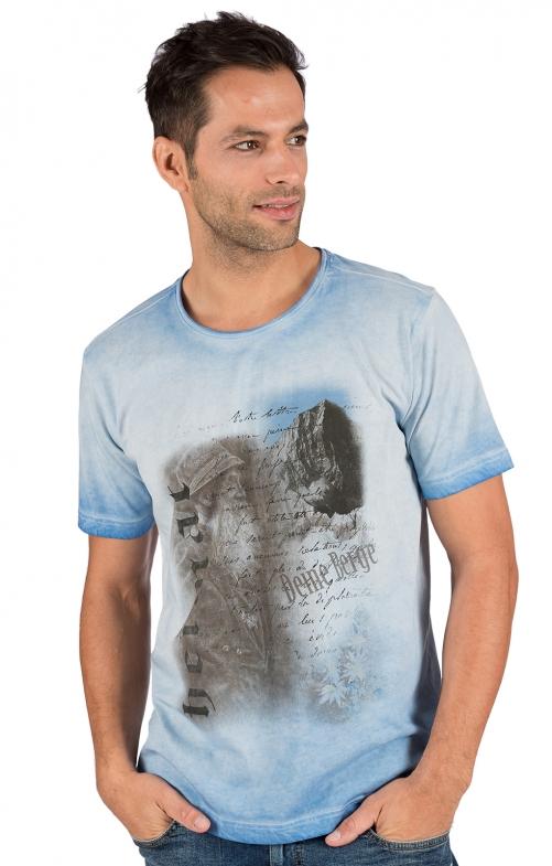 Trachten T-Shirt FYNN hellblau