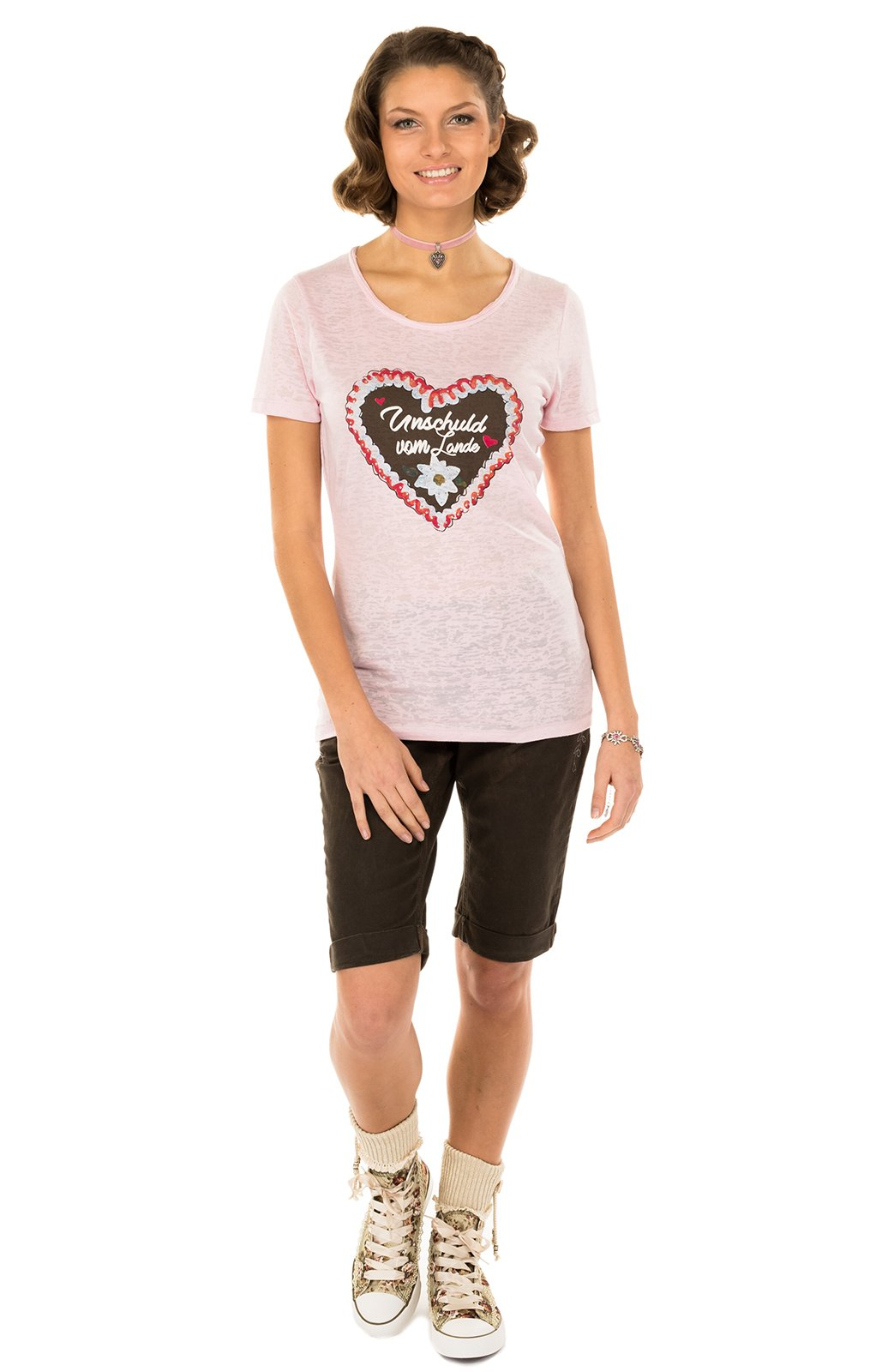 weitere Bilder von Trachten T-Shirt ANTARES rose Herzmotiv