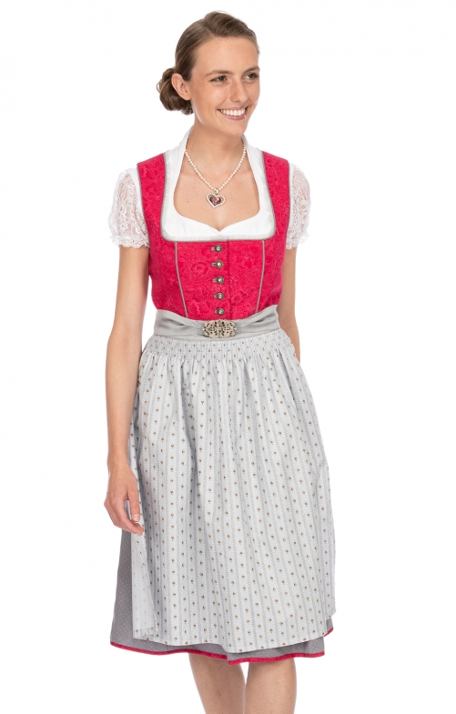 Mididirndl 2pcs. 65 cm WALLY berry gray