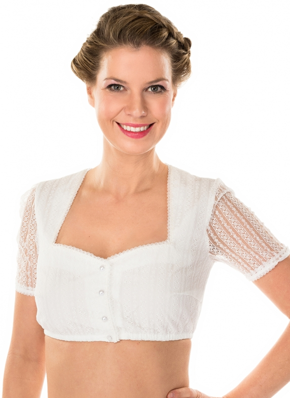 Traditional dirndl blouse LINA ecru