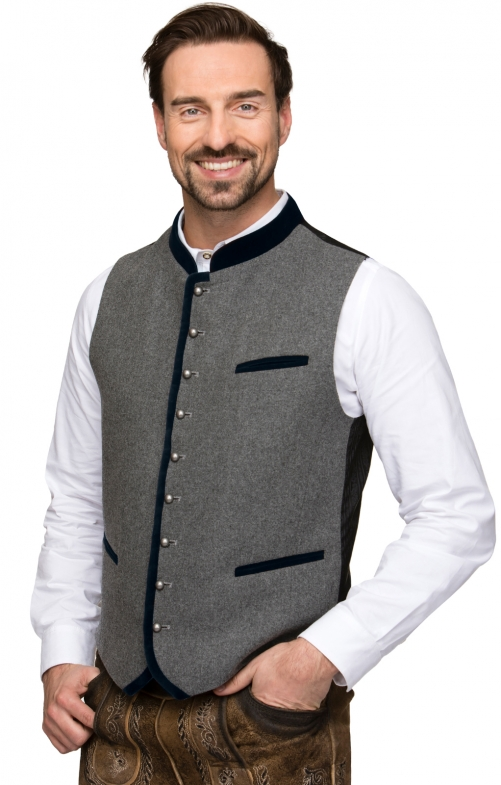 Traditional waistcoat Alonso black blue