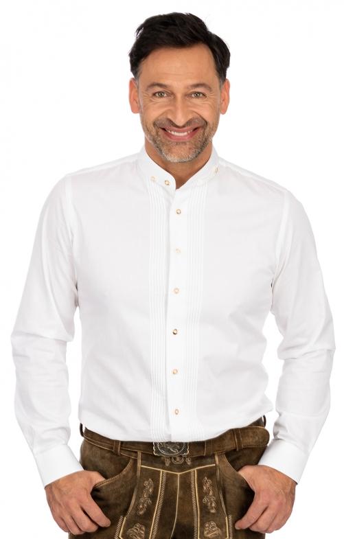 Hemd Stehkragen LF181 weiß