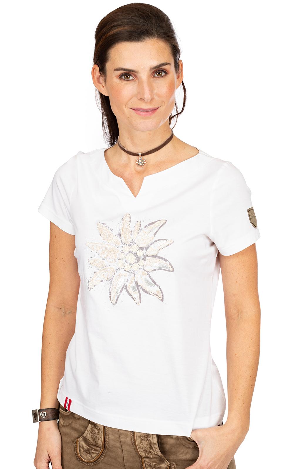 T-Shirt STRASSERALM white von Almgwand