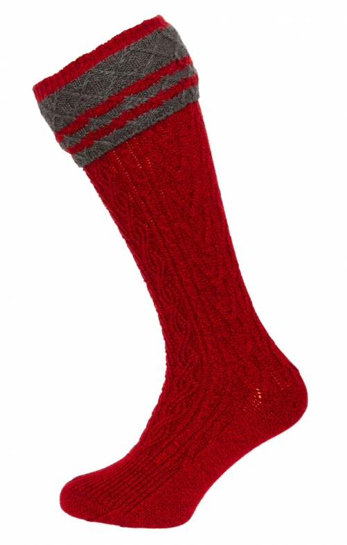 Traditional knee socks 54080 red