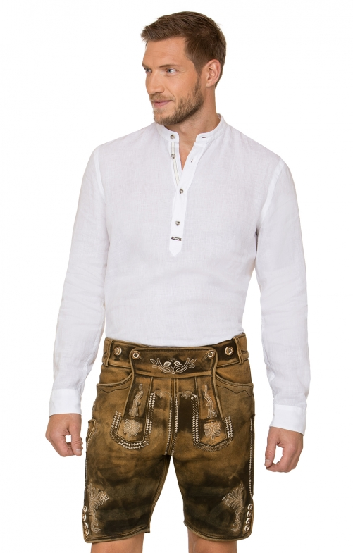 German leather trousers HM1050 brown