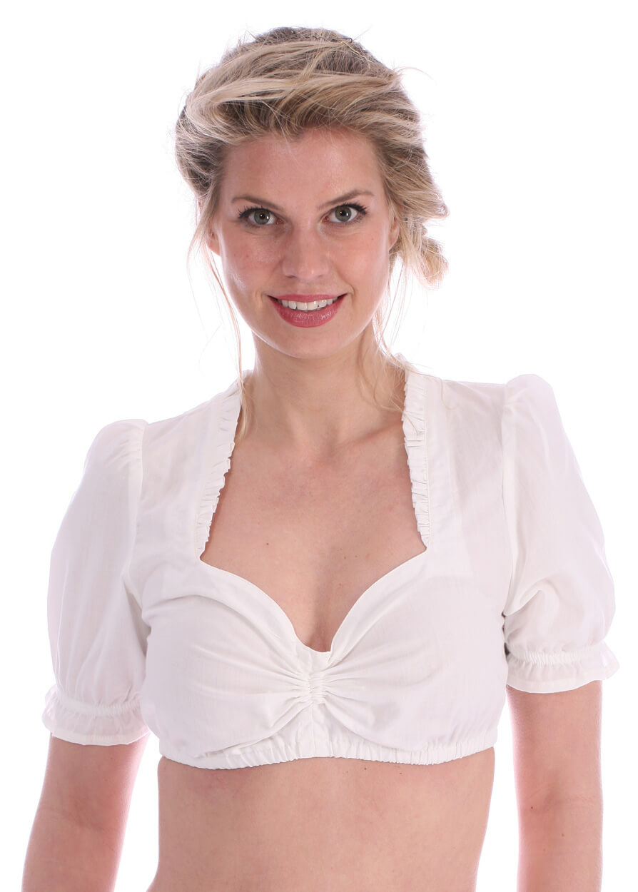 Traditional dirndl blouse Finerl creme von Marjo