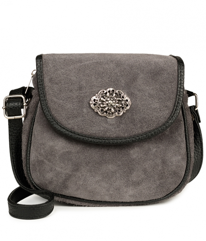 Traditional leather bag TA3000-8584 gray