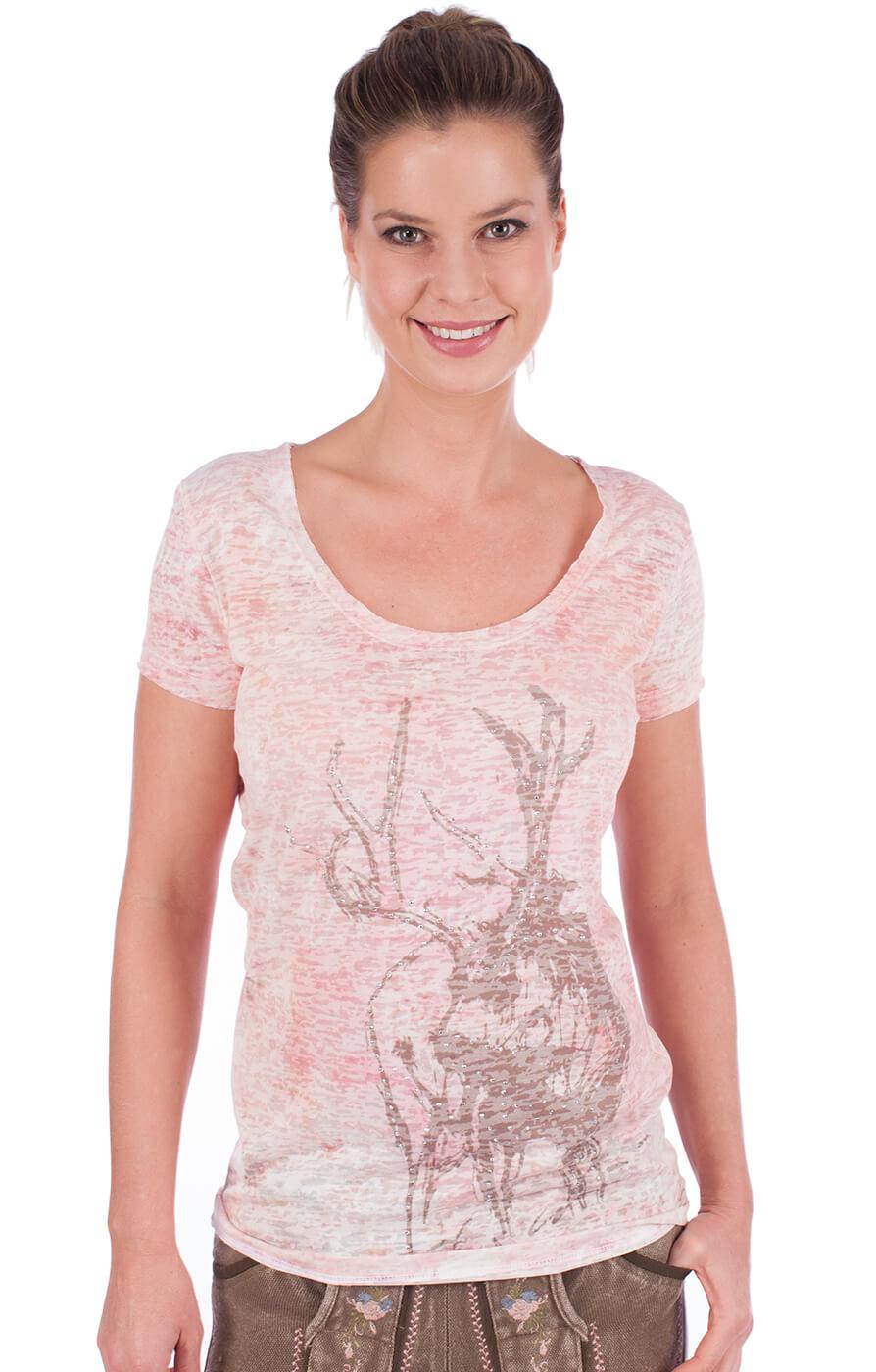Trachten T-Shirt rose von Marjo
