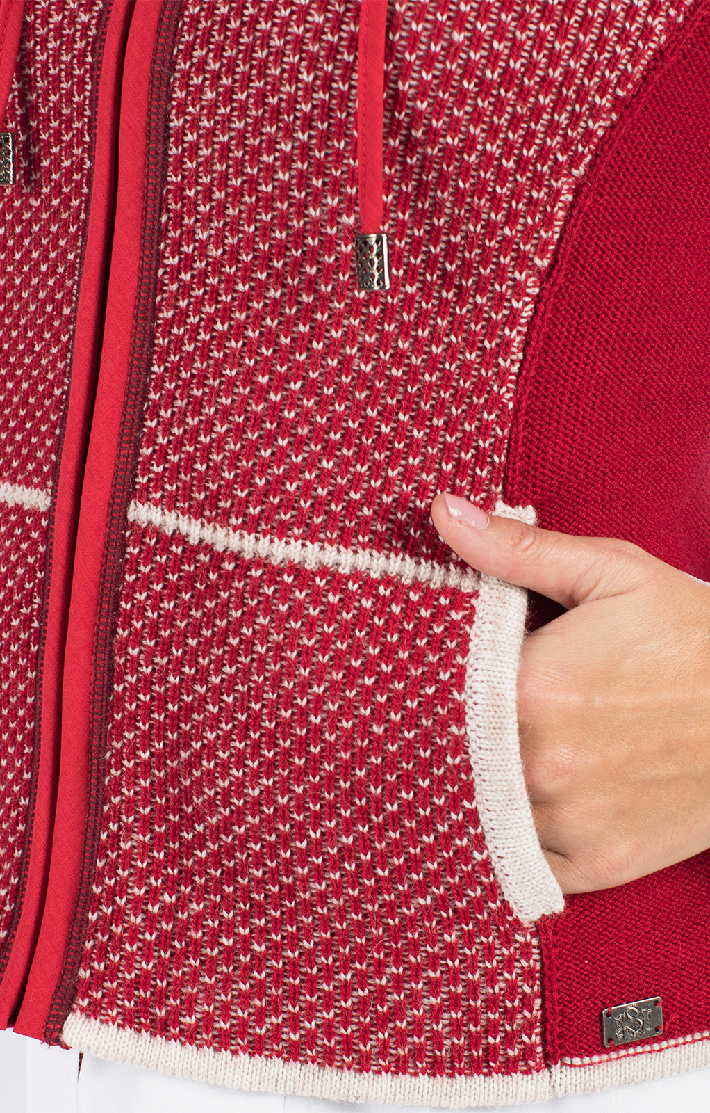 weitere Bilder von Trachten Strickjacke KULMBACH SJ rot