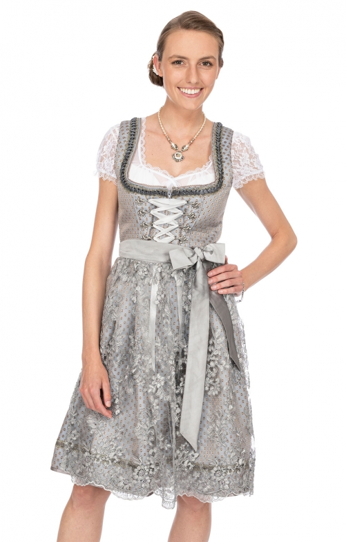 Mididirndl 2pcs. 60 cm NANCY gray