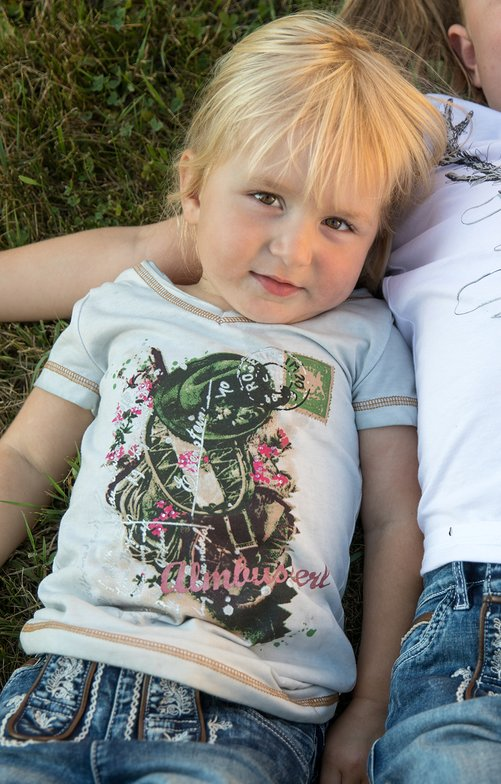 Children traditional shirt K06 - ALMBUSSERL-KIDS nature