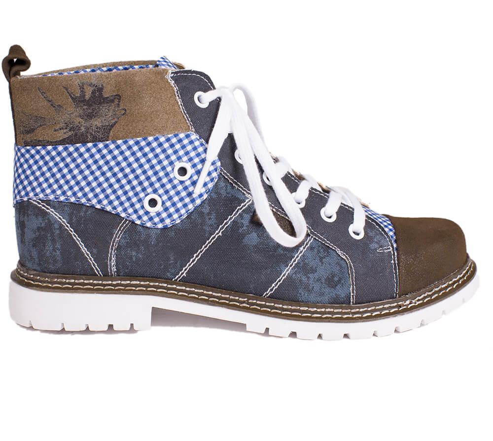 German traditional boots H540 Joshua blue brown von Spieth & Wensky