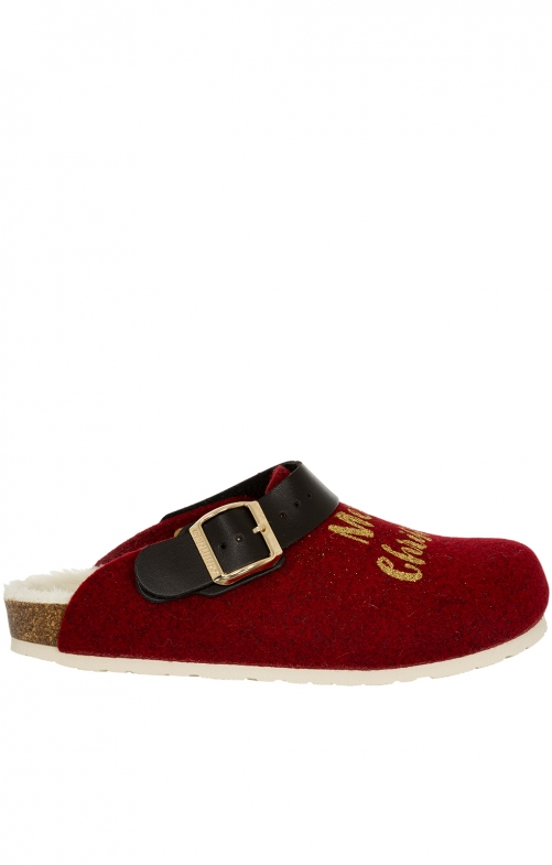 Traditional SlipperG101387 SHETLAND Xmas red