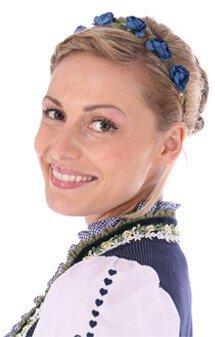 Haarband Blüten blau