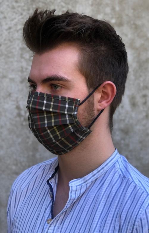 Stoffen masker 3033-55 groen