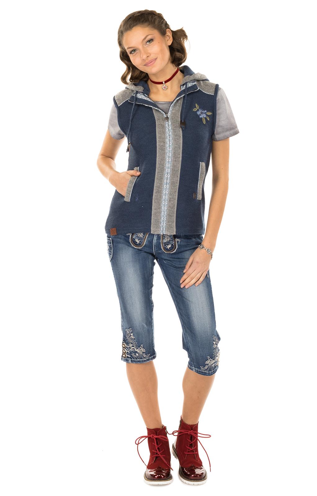 weitere Bilder von Gilet Costume Grain jeansblau