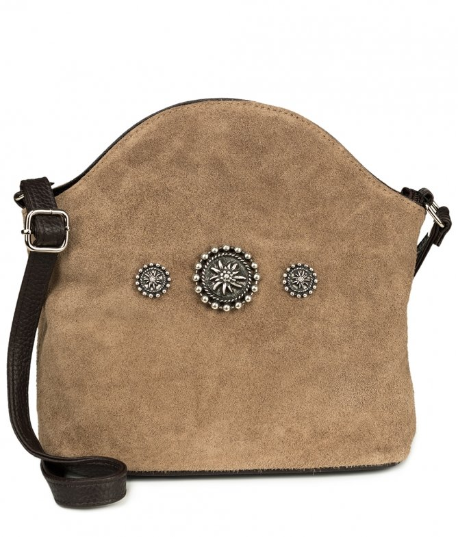 Traditional bag Edelweiss TA30910-7820-1-3 gray brown