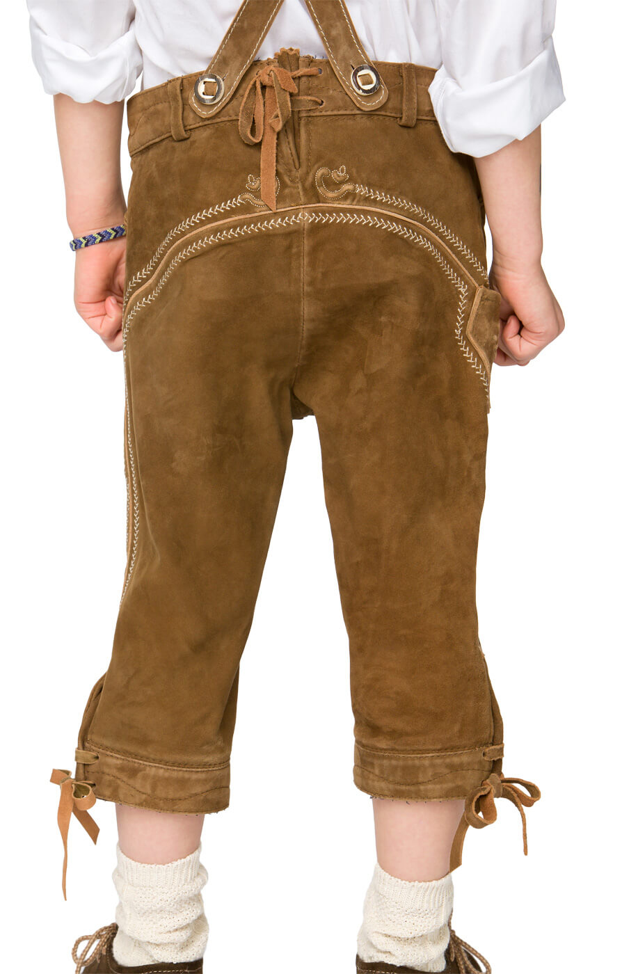 weitere Bilder von Chlidren leather trousers knee length P-300 lightbrown