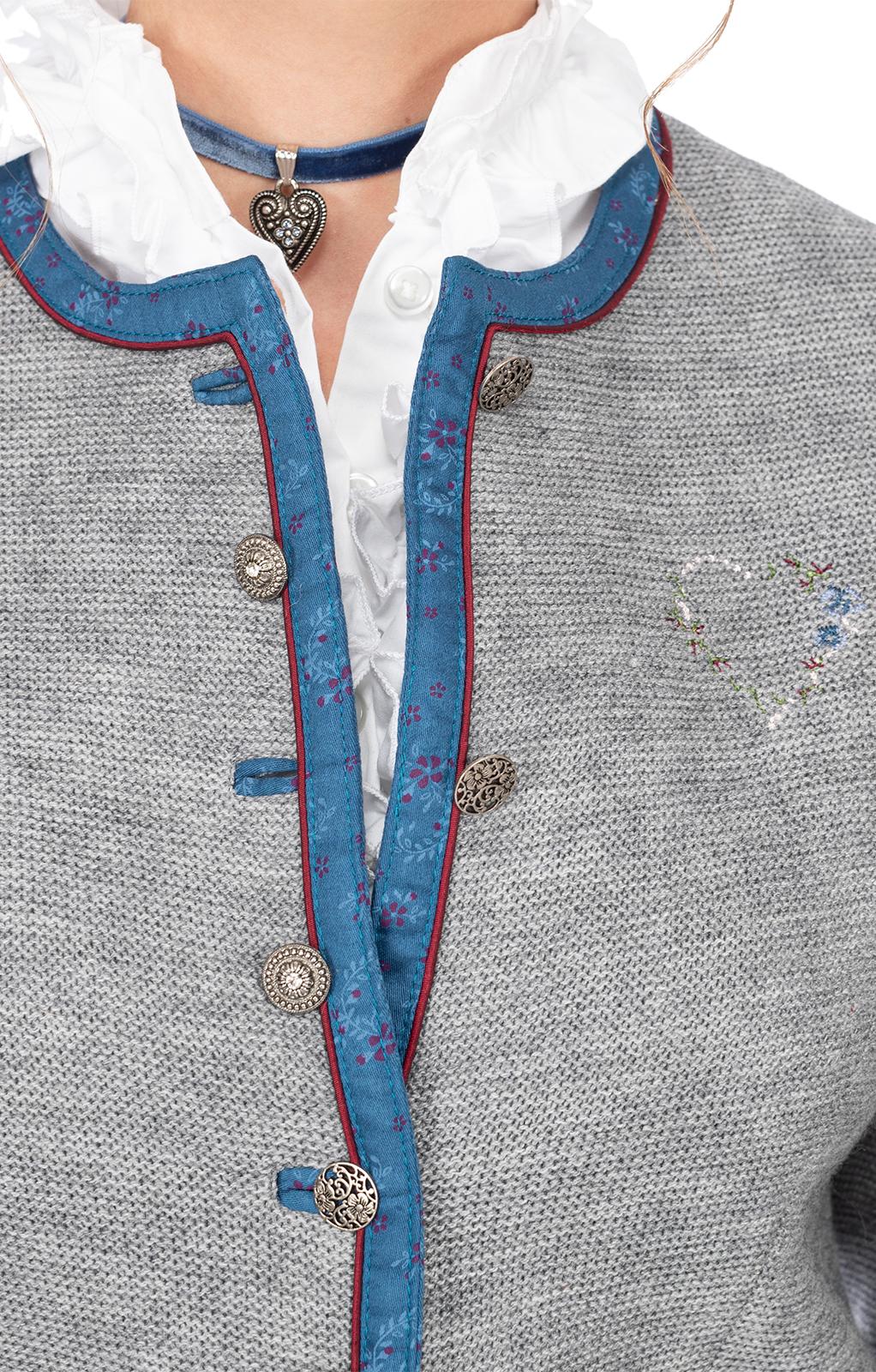weitere Bilder von Trachtenjacken MANDEL hellgrau-blau