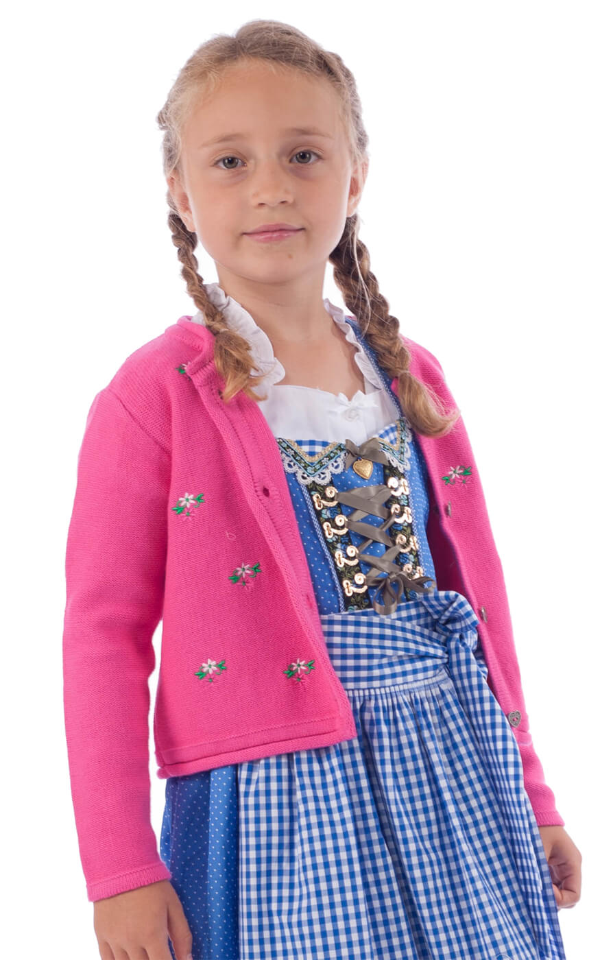 Kinder Strickjacke pink von Stockerpoint