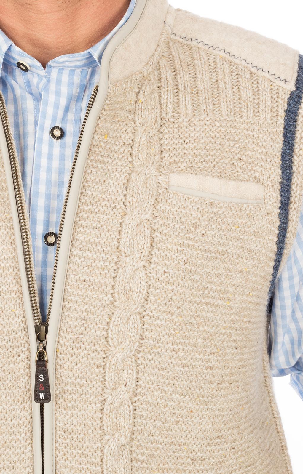 weitere Bilder von Trachten Strickweste GEBIRG natur-jeans