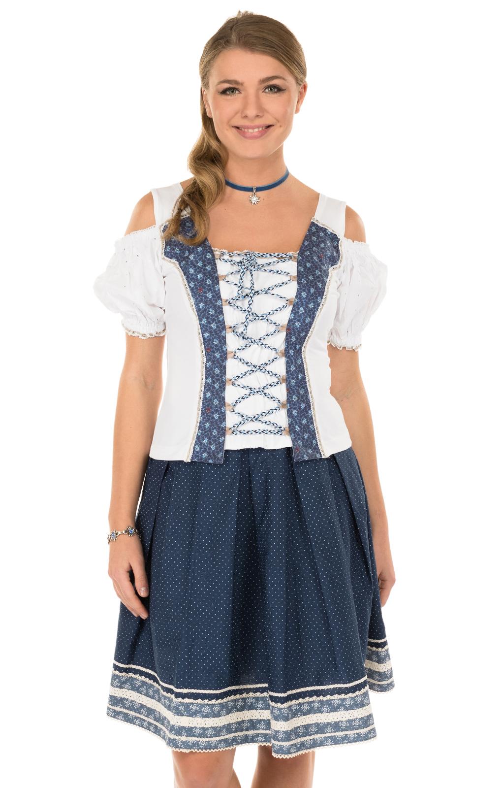 Traditional skirt blu von Marjo
