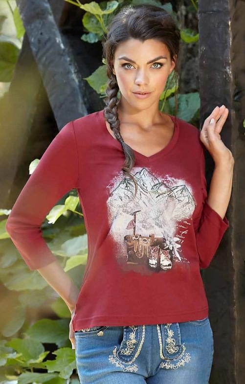 T-Shirt 321124 bordeaux