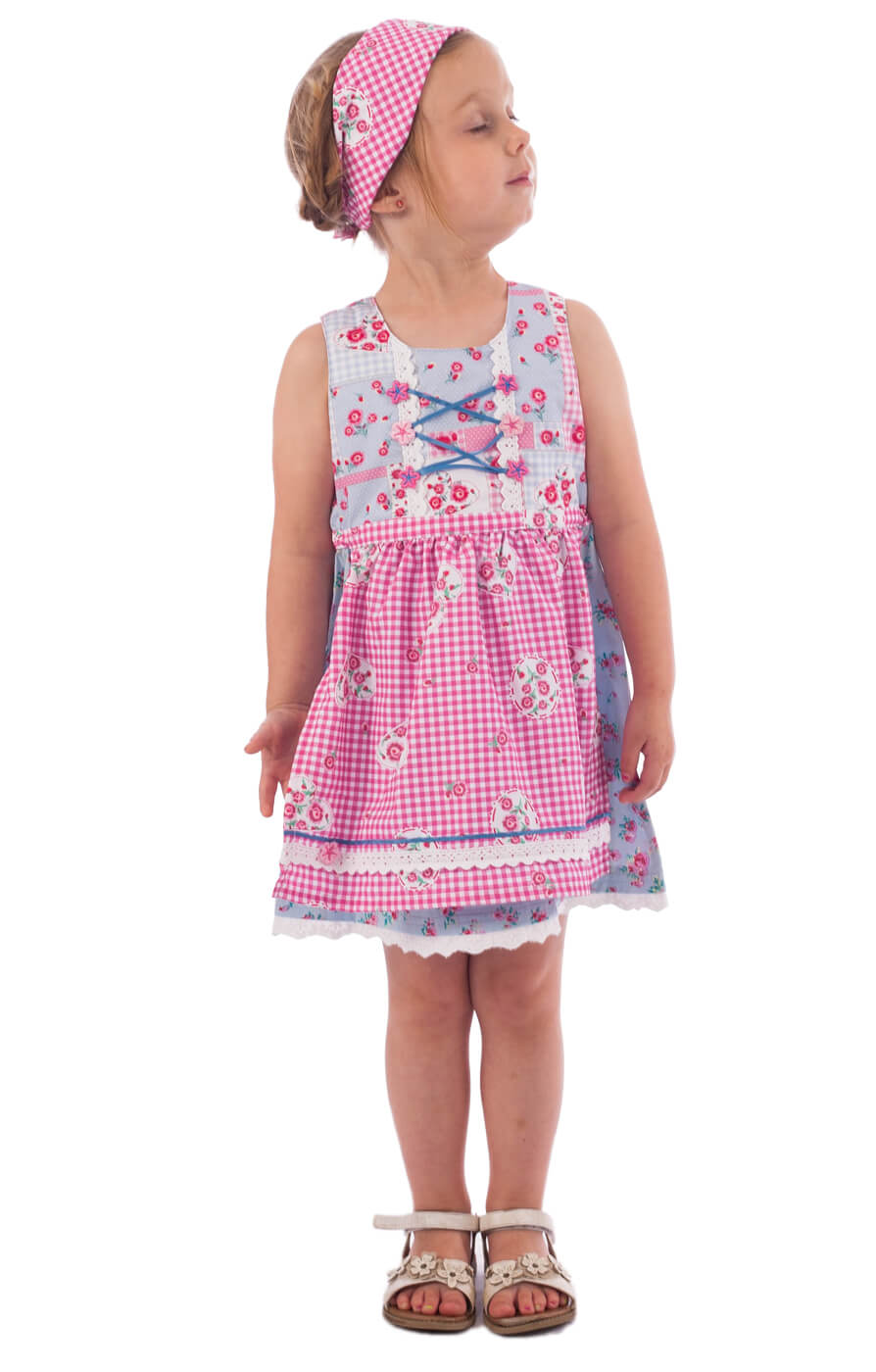 Traditional Children dirndl EMMA blue von Stockerpoint