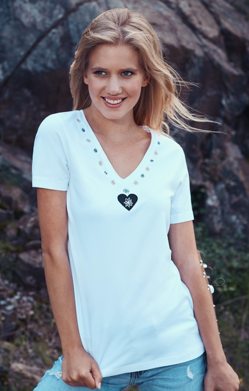 T-Shirts tradizionale HOELBINGERALM weiß