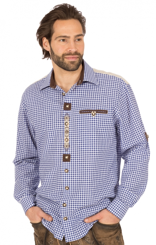 German traditional shirt BELINI blue