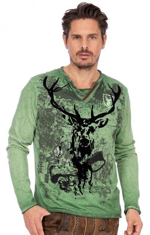Langarmshirt ELVIS grün